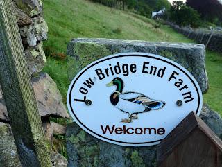 Sign at Low Bridge End Farm.