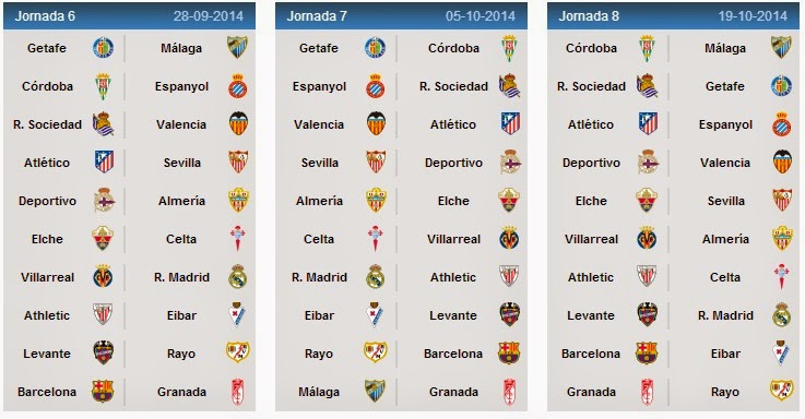 liga bbva matches today