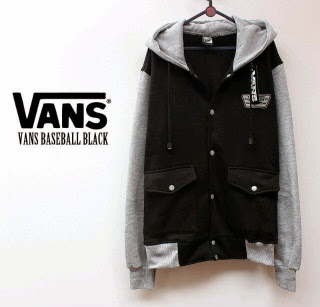 Jaket Vans Baseball Black