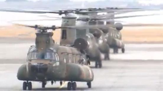 第1ヘリコプター団 年頭編隊飛行訓練