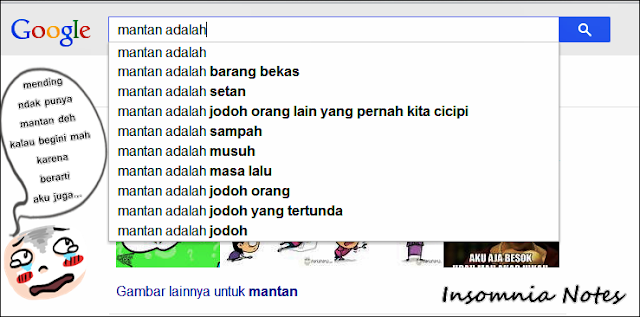 Searching Mantan di Google