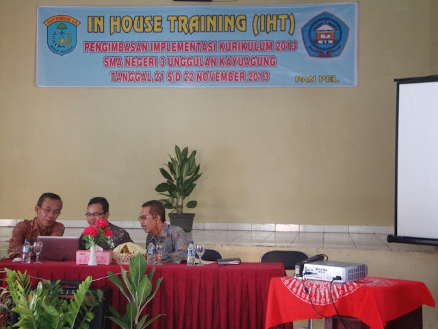 In House Training (IHT) Pengimbasan Implementasi Kurikulum 2013