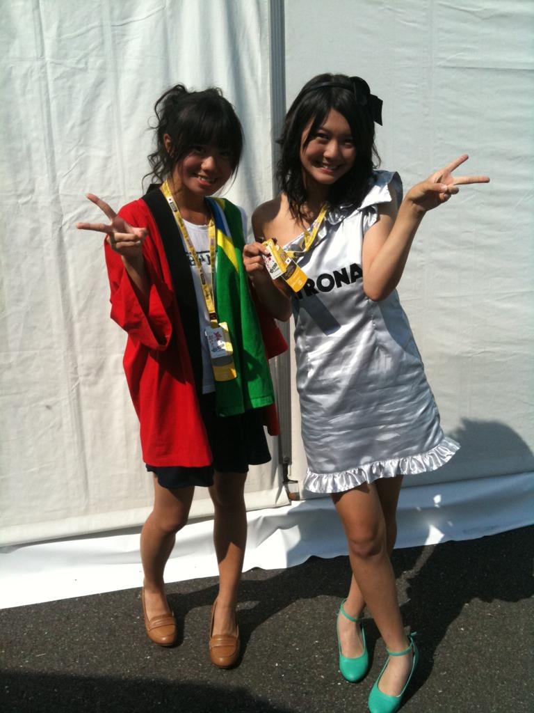 болельщицы Нико Росберга на Гран-при Японии 2011