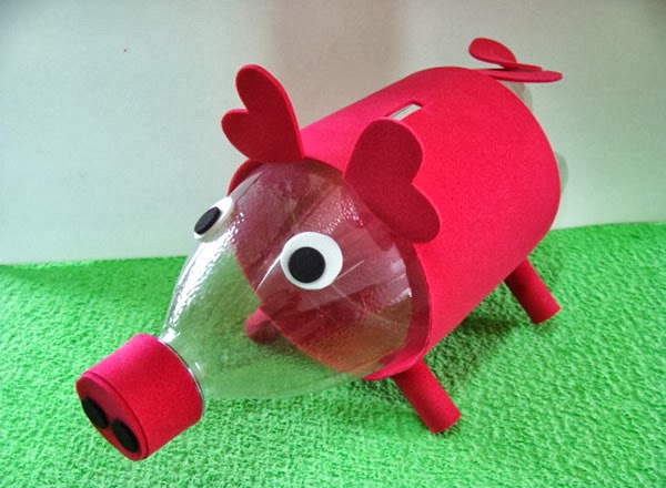 Adesivo De Bailarina Para Quarto ~ Cofre de porquinho feito com garrafa pet Revista Artesanato