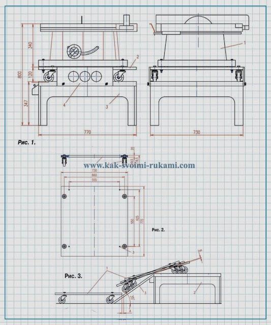 Циркулярный стол своими руками чертеж 552
