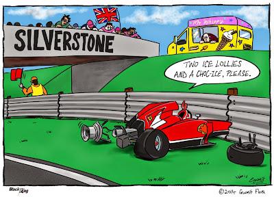 Кими Райкконен останавливается купить мороженку в Сильверстоуне - комикс Black Flag по Гран-при Великобритании 2014