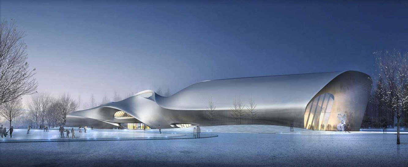 Harbin, Heilongjiang, Cina: Wood Sculpture Museum by Mad Architects