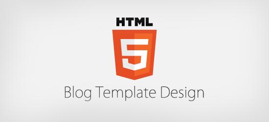 HTML5 Template Design for Blog.