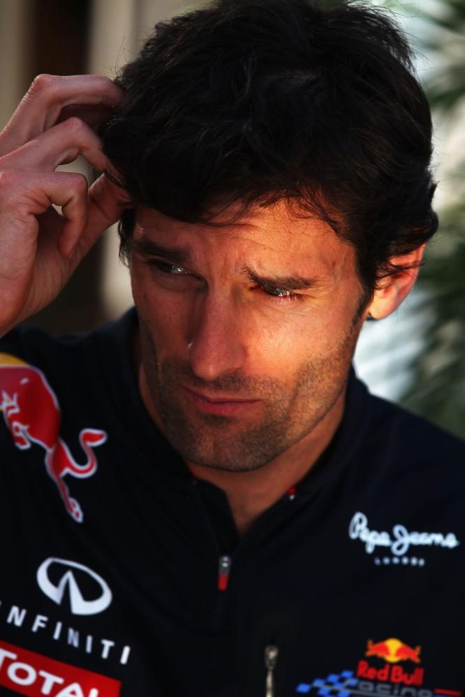 размышляющий Марк Уэббер на Гран-при Канады 2011