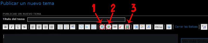 Como postear Fotos y vídeos en el Foro 1-iconos