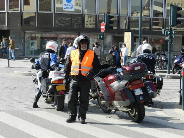Manifestation FFMC 35 24 mars 2012 - Départ du convoi