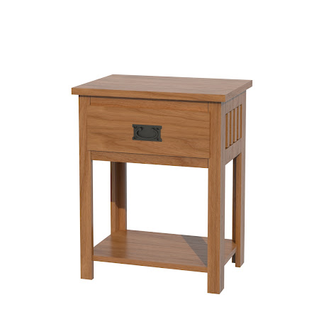 Mission Nightstand with Shelf, in Vintage Cherry