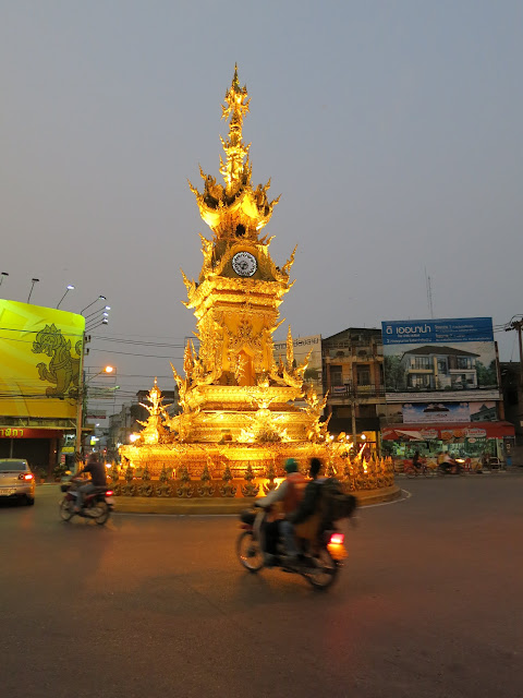 Chiang Rai's famous clock tower.