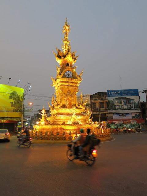 Chiang Rai's famous clock tower.