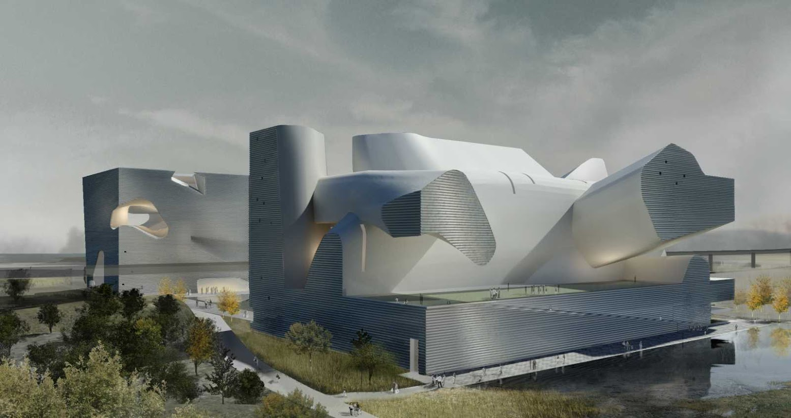 Tientsin, Cina: [ECOLOGY MUSEUM AND PLANNING MUSEUM BY STEVEN HOLL]