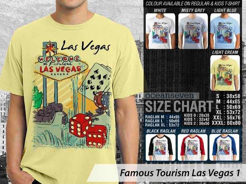 Kaos Wisata Las Vegas 1 Amerika distro ocean seven