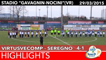 VirtusVecomp - Seregno - Highlights del 29-03-2015