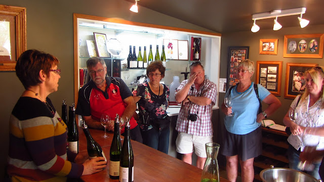 Christine from Bladen wines with our tour group.