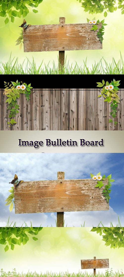 Stock Photo: Image Bulletin Board