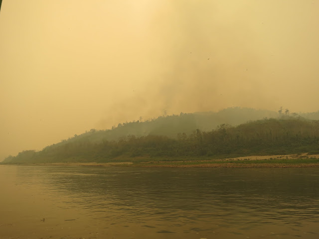 Horrible smoke and haze from slash and burn farming.