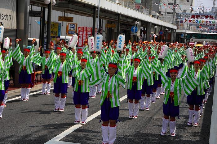 第59回よさこい祭り☆本祭1日目・愛宕競演場1☆上1目284