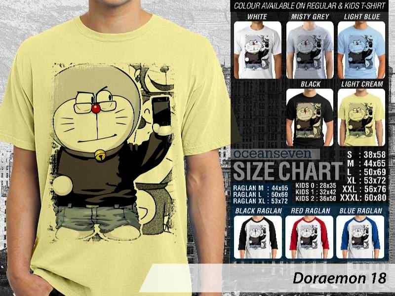 KAOS Doraemon 18 Manga Lucu distro ocean seven