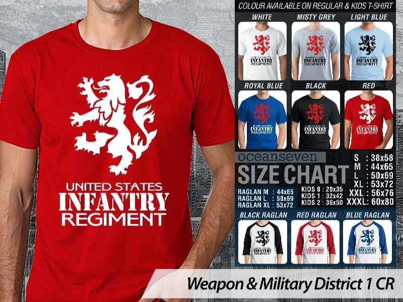 KAOS Militer Infantry Regiment Weapon & Military District 1 distro ocean seven