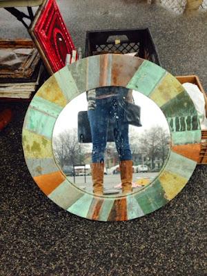Eastern Market, mirror, copper frame