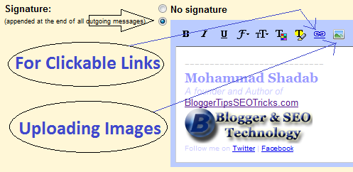 how to add html image signature to gmail signature