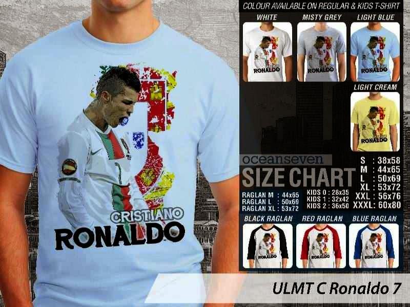 Kaos bola Cistiano Ronaldo 7 distro ocean seven