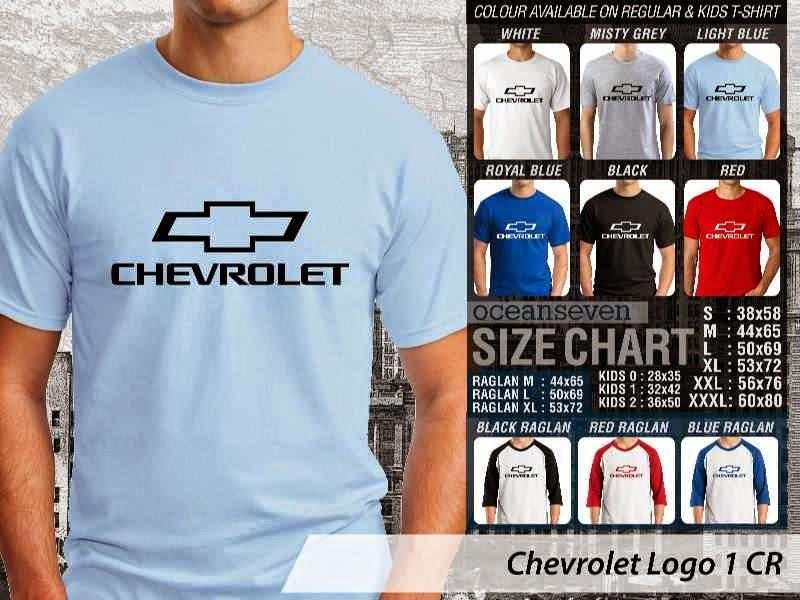 KAOS Chevrolet Logo Otomotif distro ocean seven