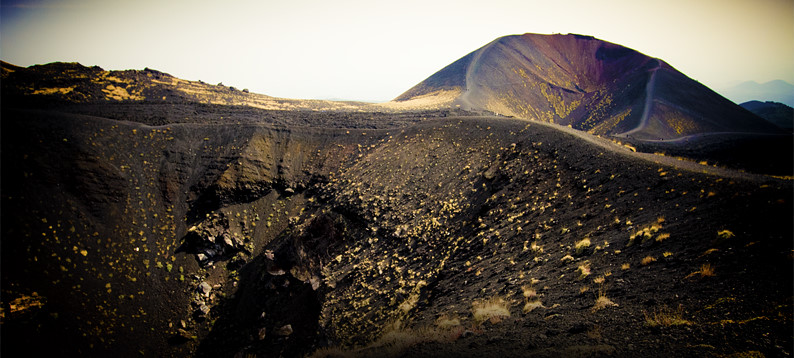 Etna's neighbouring craters including Monte Silvestri