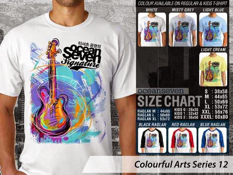 KAOS keren Colourful Arts Series 12 gitar guitarist | KAOS Colourful Arts Series 12 distro ocean seven