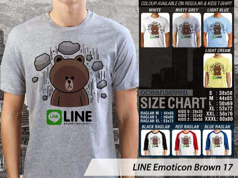 KAOS IT LINE Emoticon Brown 17 Social Media Chating distro ocean seven