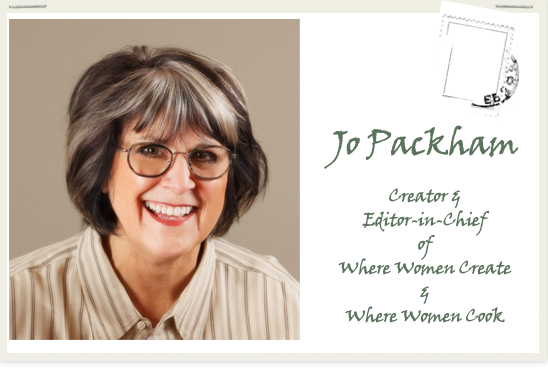 A GIVEAWAY!... but first a bit about Jo Packham