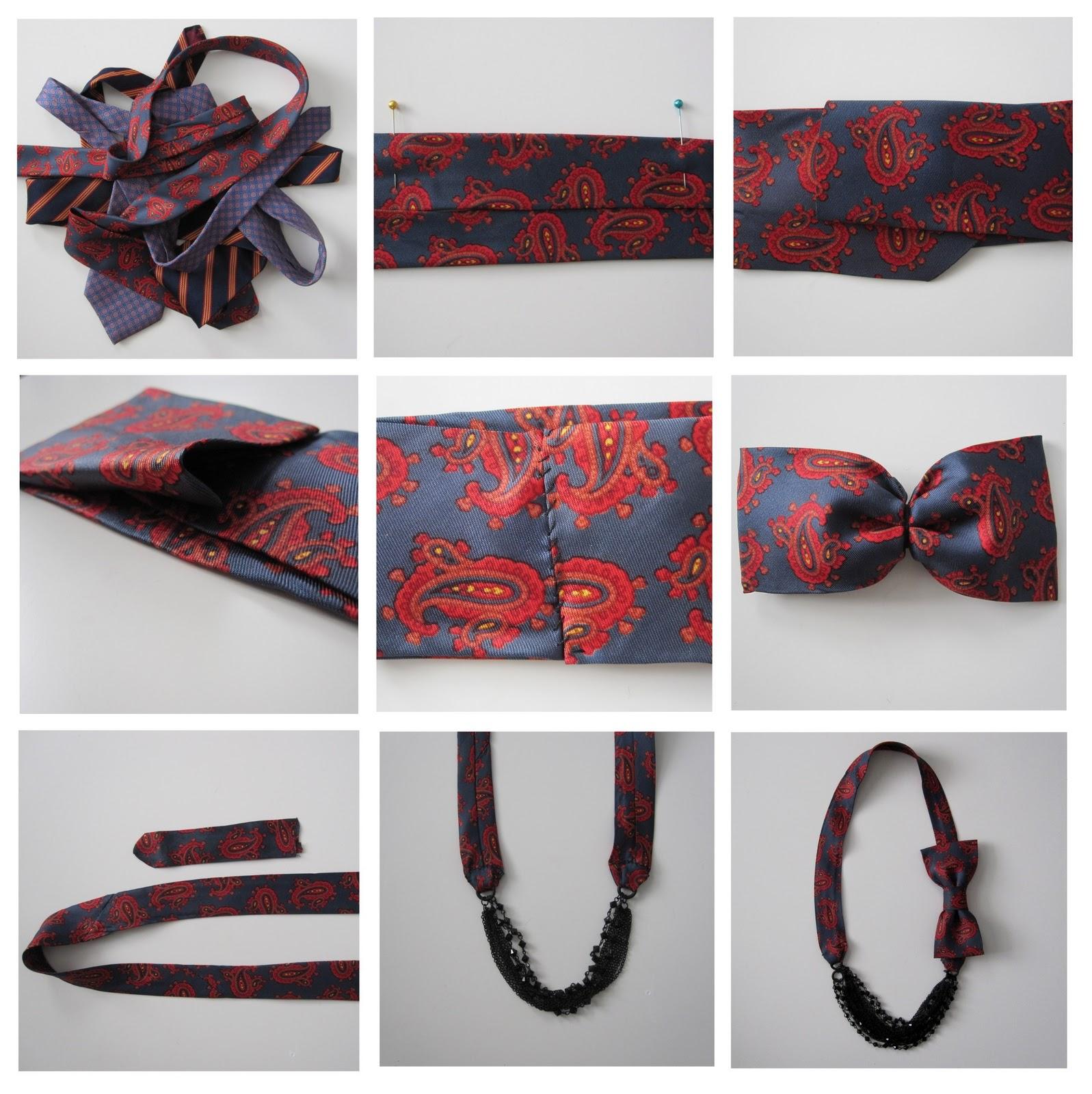 Поделки из старых галстуков своими руками фото
