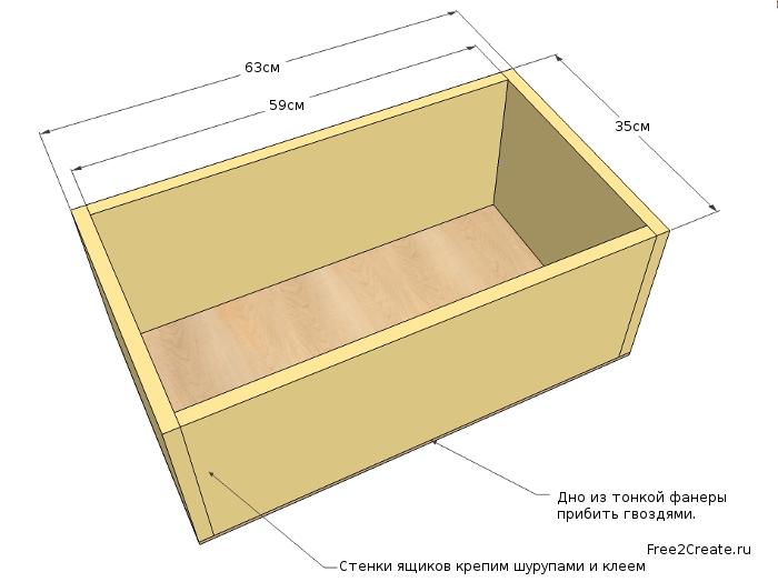 Чертеж деревянного ящика своими руками