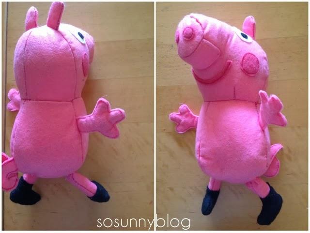 DIY felt Peppa Pig. Peppa Pig de fieltro.