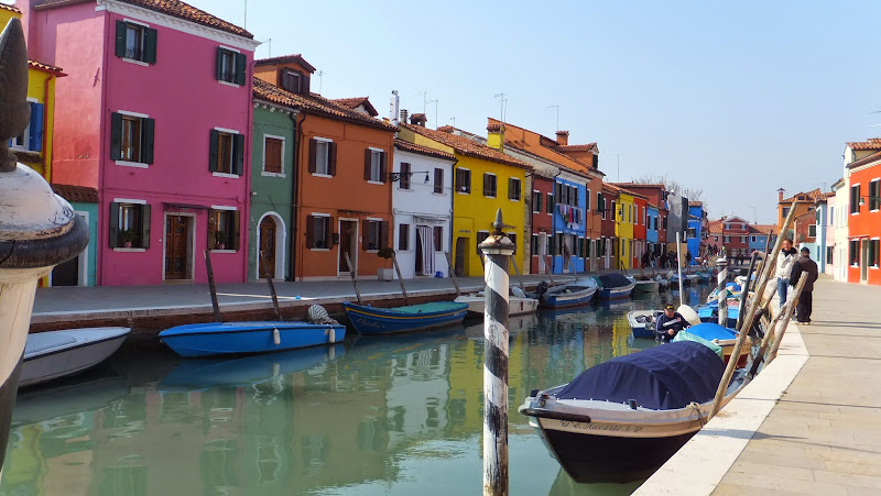 Canal de Burano, Veneto, Italia