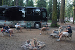 It's a day off near Medford, OR...pull your tour bus up to the camp-fire if you've got one