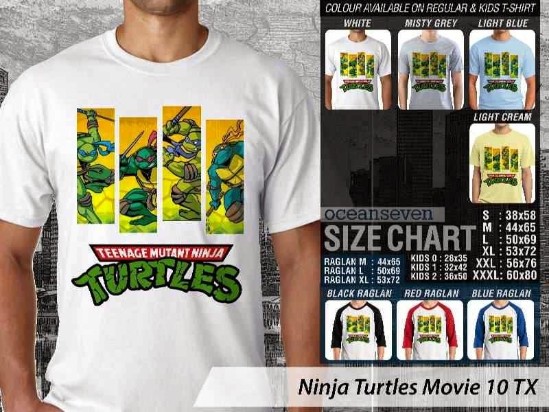 Kaos Movie Film Ninja Turtles Movie 10 distro ocean seven