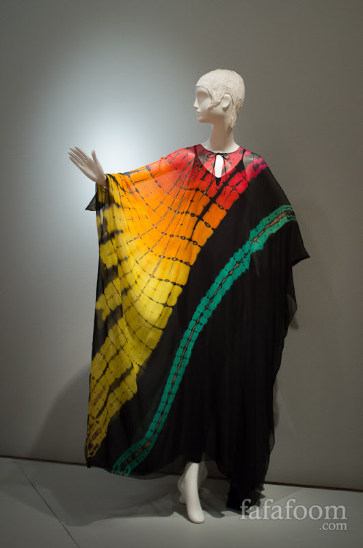 "Halston, ""Rainbow"" evening dress, 1975."