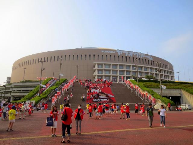 The Yahoo Dome, where Fukuoka's SoftBank Hawks play