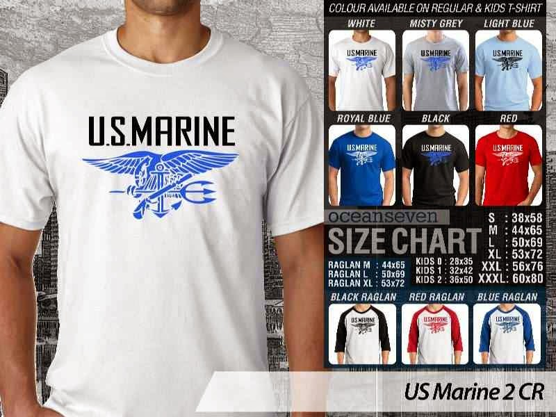 KAOS Militer US Marine 2 distro ocean seven