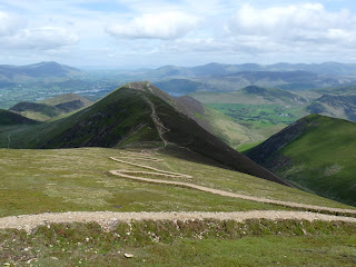 The new path on Sail and Scar Crags.