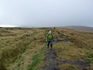Enjoying the walk across the moorland