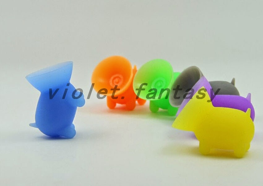 Cute Phone Stand Hold Suction Rubber Holder Animal Shape ...