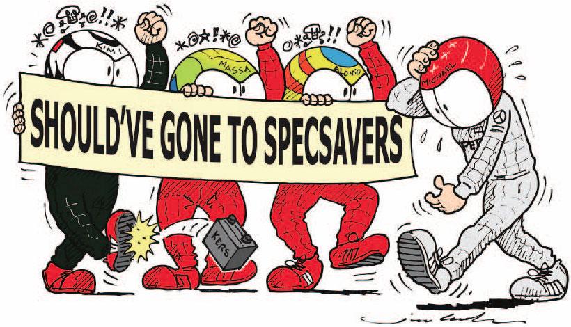 комикс Jim Bamber про Михаэля Шумахера на Гран-при Венгрии 2012