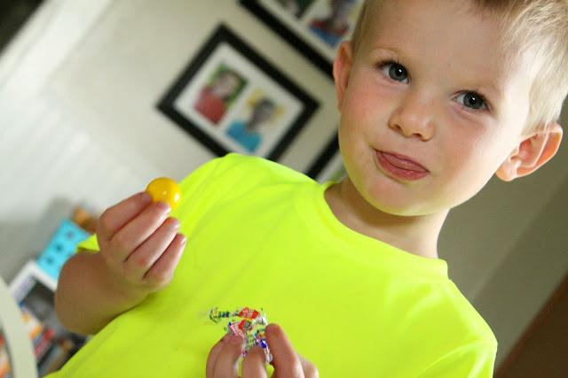 yellow gum ball