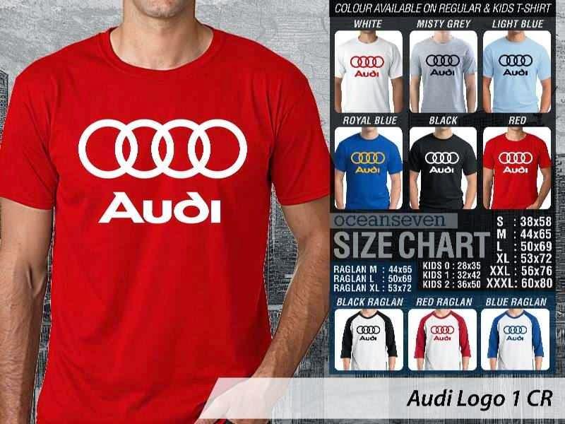 KAOS Audi Logo Otomotif distro ocean seven